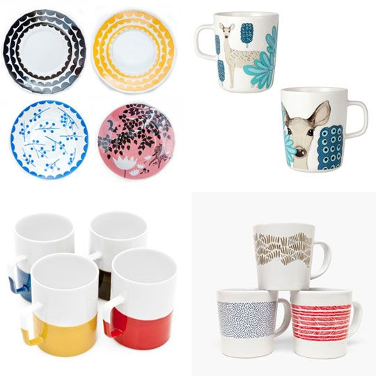 Time for Tea! Modern Teacups, Mugs & Saucers (I need some saucers that are contoured to hold a cuppa.)