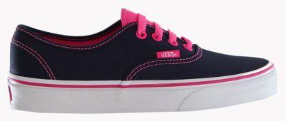 tenis vans feminino preto com rosa