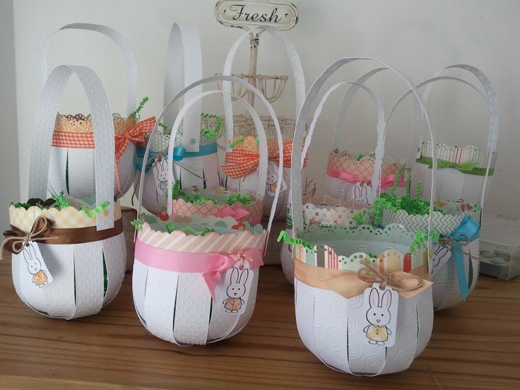 Canastas para pascuas viviana pinterest baskets - Canastas de mimbre decoradas ...