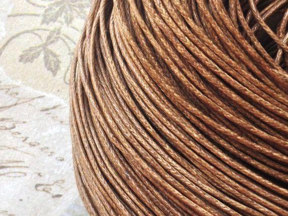 1 mm Brown Colour Waxed Cotton Cord (.mcc)