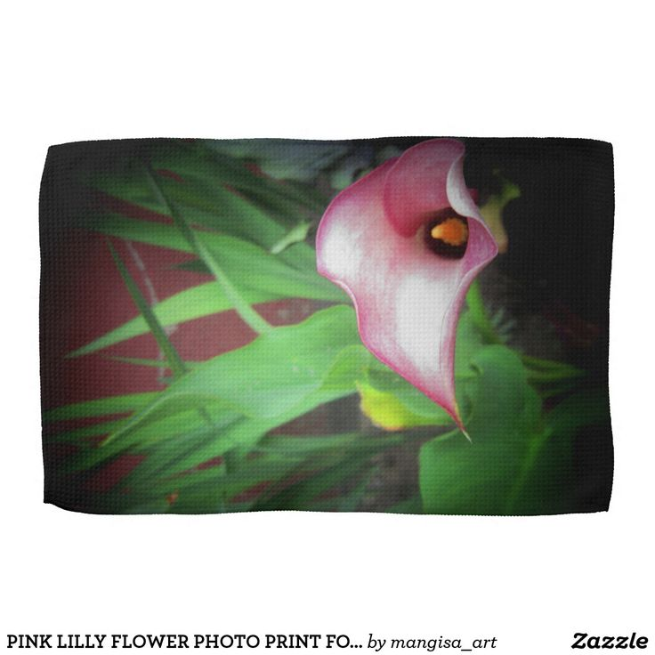 PINK LILLY FLOWER PHOTO PRINT FOR KITCHEN TOWEL