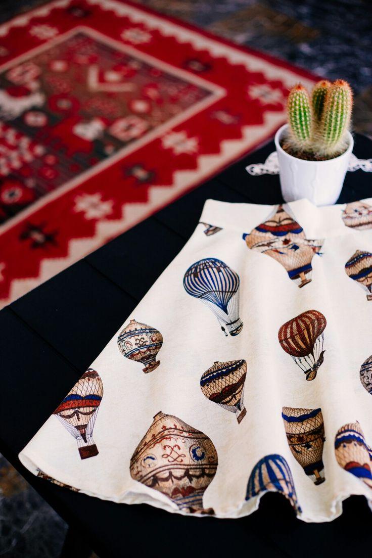 Hot Air Balloons skirt.  www.lemoutonbleu.com