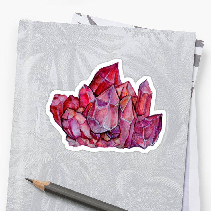 I love crystals and minerals! • Also buy this artwork on stickers.