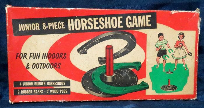 Vintage Rubber Horseshoe Game with Original Box /Childrens Toy c. 1960 by CurioCabinet on Etsy