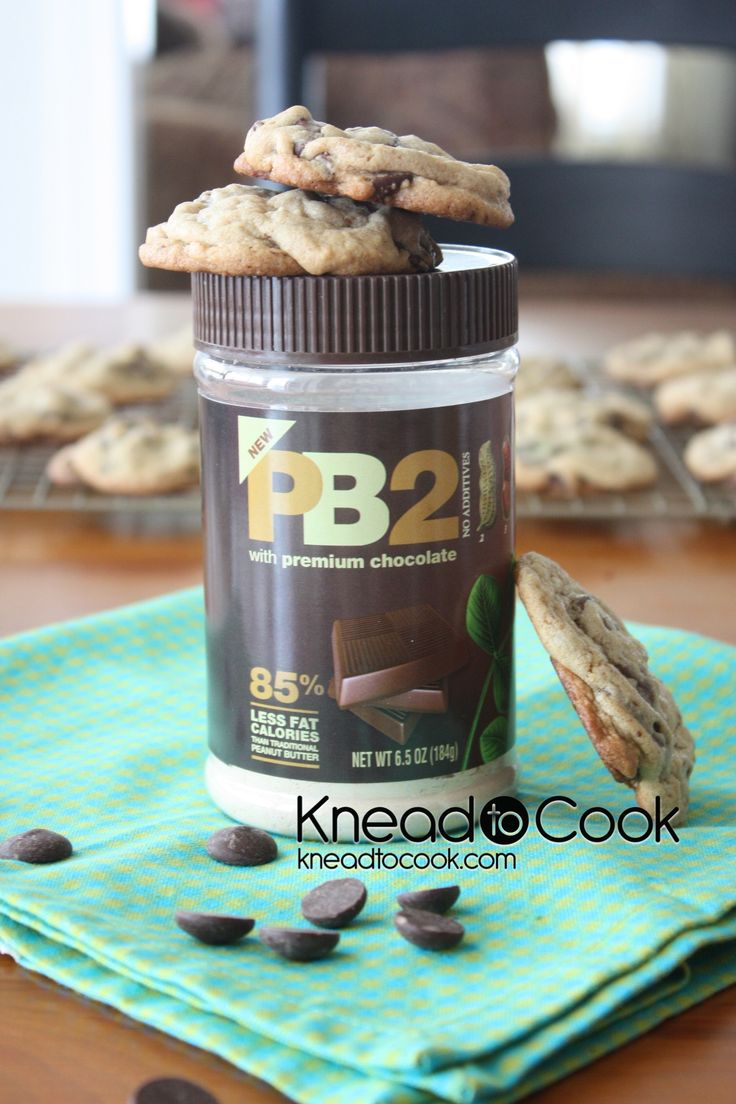PB2 Chocolate Chip Cookies. These may be the best chocolate chip cookies EVER.