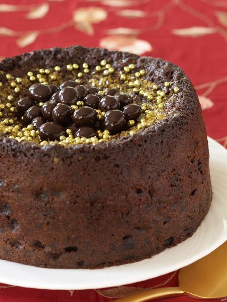 Chocolate Fruit Cake recipe from Nigella Lawson via Food Network