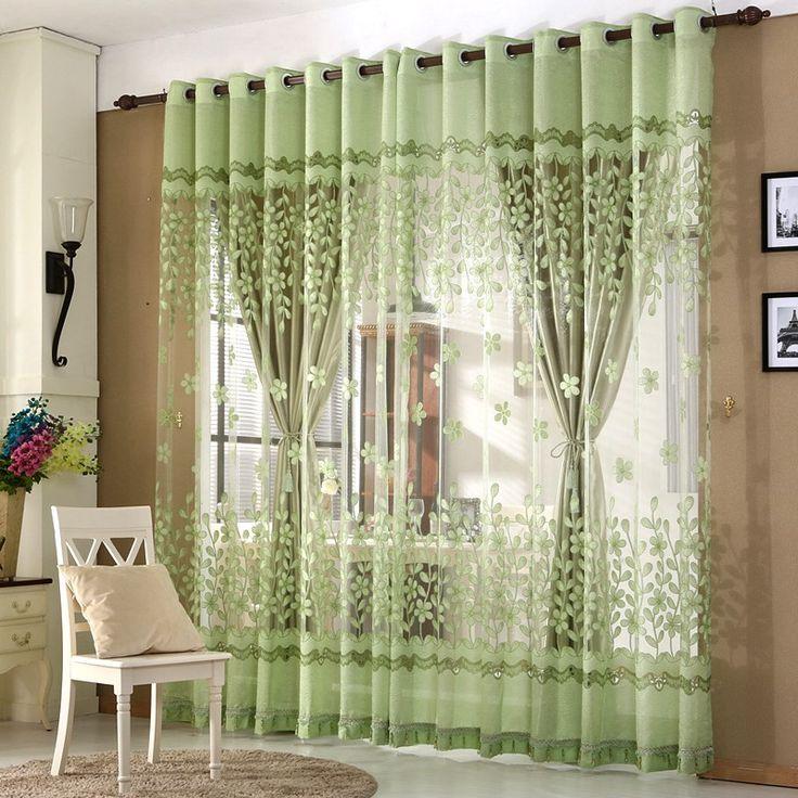 Роскошные оконные шторы для гостиной европейский королевских вышитая  тюль шторы для спальни тюль отвесные занавески купить на AliExpress