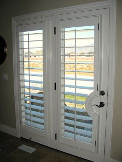 plantation shutters for french doors What these for my sliding glass doors... no more curtains