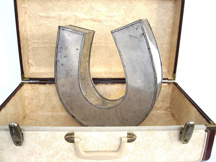 Vintage Metal Horseshoe, Industrial Cake Baking Pan, Large Letter U, Urban Decor 3D Good Luck Symbol, Restaurant Decor, Derby Horse Shoe by BrooklynStVintage on Etsy