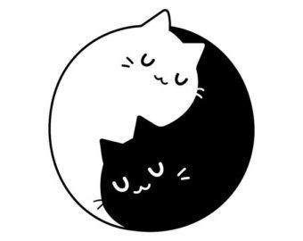 Yin yang cats   Etsy