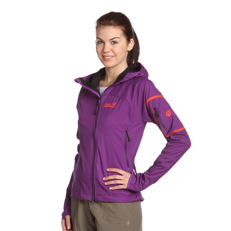 Jack Wolfskin | IMPULSE JACKET Softshelljacke Damen | purple glow | http://www.mysportworld.de/jack-wolfskin-impulse-jacket-softshelljacke-damen-purple-glow.html