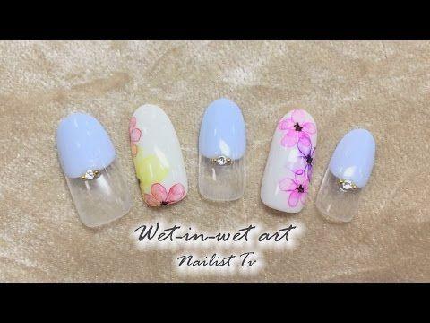 お花のたらし込みネイルNAILIST TV - YouTube