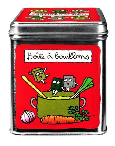keladeco.com - boite a #bouillons cube, idée deco maison,  boite valérie nylin - #boite cuisine Derrière la porte DLP