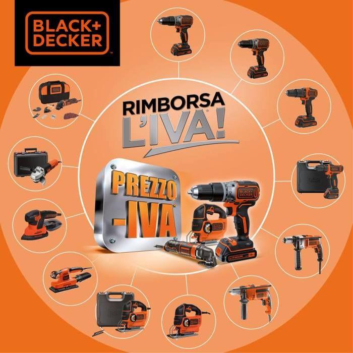 Acquista oggi un Elettroutensile BLACK+DECKER e ricevi un Bonifico pari all'IVA pagata!!! https://www.bricohouse.it/categoria-prodotto/utensileria/utensili-elettrici/
