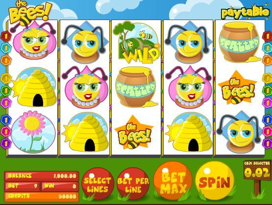 Try your luck on The Bees Slot Machine @ Sweet Bet