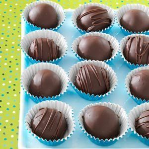 Caramel Truffles Recipe -These candies disappear as fast as I can make them. The five-ingredient microwave recipe is easy and fun to make. When drizzled with white almond bark and packaged with ribbon, they make a pretty gift. -Charlotte Midthun Granite Falls, Minnesota