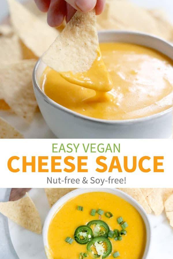 Vegan Cheese Sauce Nut Free Detoxinista Recipe Vegan Cheese Recipes Nutritional Yeast Recipes Vegan Cheese Sauce Nut Free