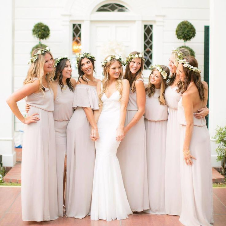 Nude Colored Bridesmaids Dresses // Show Me Your Mumu