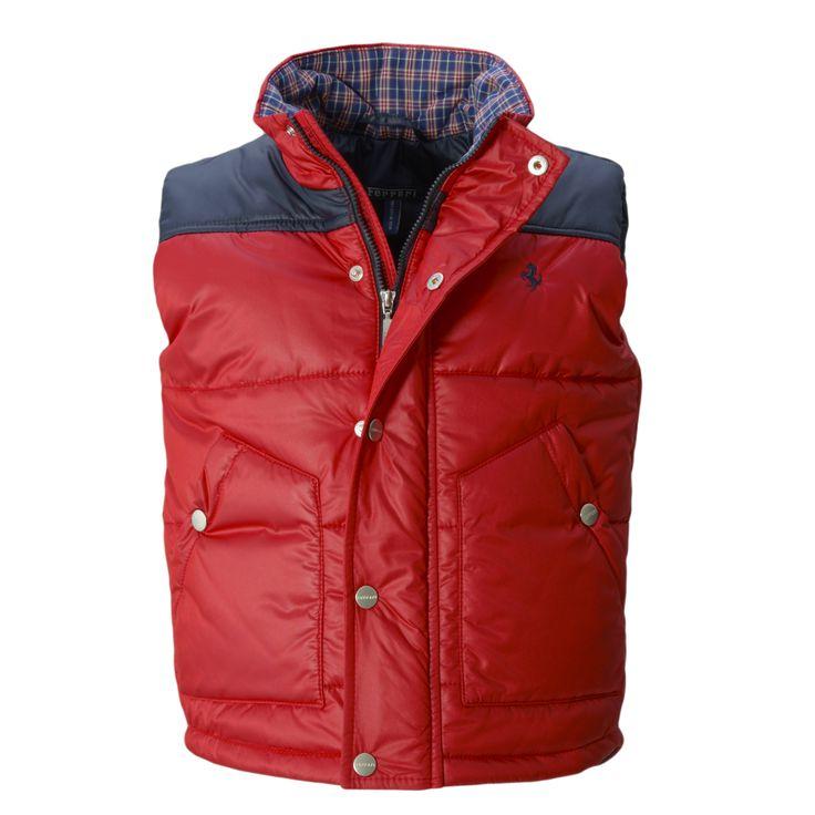 Kid's Ferrari Vest - #Ferrari #FerrariStore #Kids #Collection #FallWinter2015 #Vest #RossoFerrari #RedMaranello #Sporty #Style #Comfort #Passion #CavallinoRampante #PrancingHorse #Young #Maranello #Fans