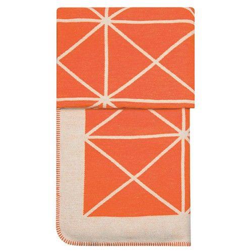 Kuscheldecke Square Orange - Kissen und Plaids - Wohnen - Shabby-Style.de