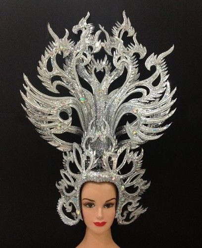 Details About Shiny Elegant Bird Wing Angel Crown