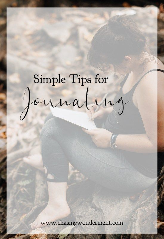 Simple Tips for Journaling.