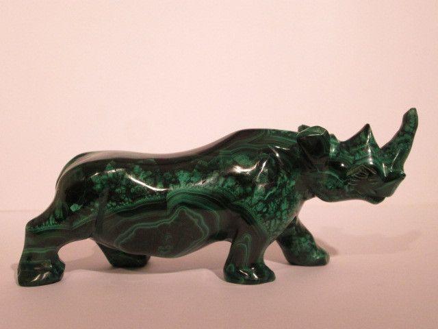 # 3 - MALACHITE semiprecious stone - carved animals