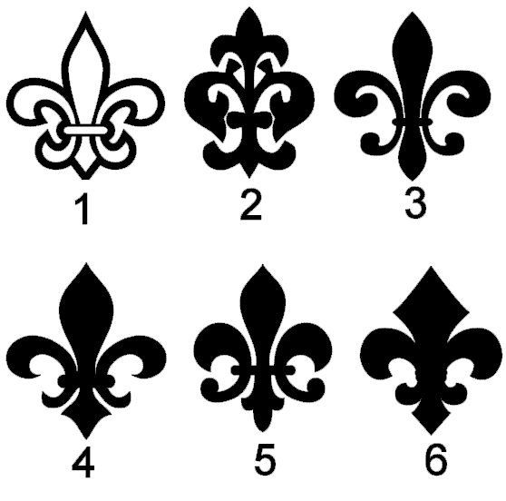 Fleur de lis Vinyl Decals One of these on the inside of a wrist