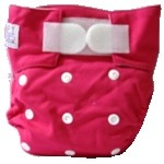 Happy Babes PINK One Size Nappy is a Modern Cloth Nappy (MCN) that can be worn from birth to toilet training. The One Size Nappy has plastic snaps on the front of the nappy allowing the rise of the nappy to be adjusted as your baby grows from birth to toilet training. Pocket Nappies consist of a waterproof outer which is usually a polyurethane laminated polyester and a cotton micofibre lining that is extremely soft against the baby's skin.