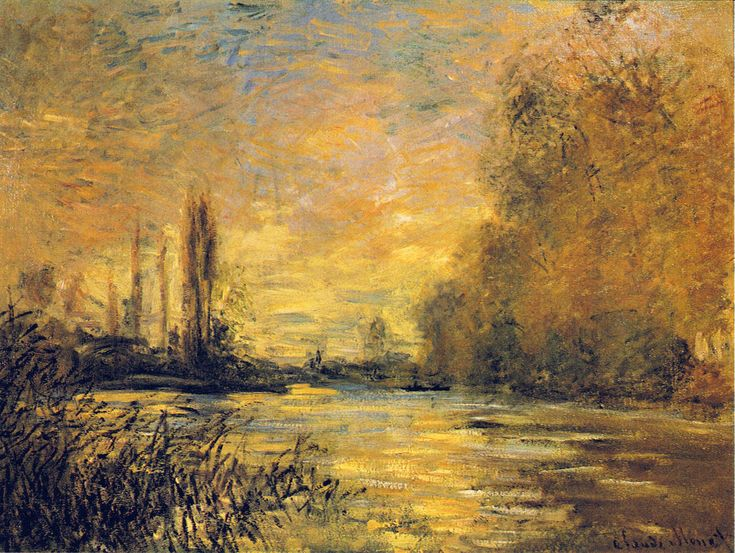 The Small Arm of the Seine at Argenteuil - Claude Monet