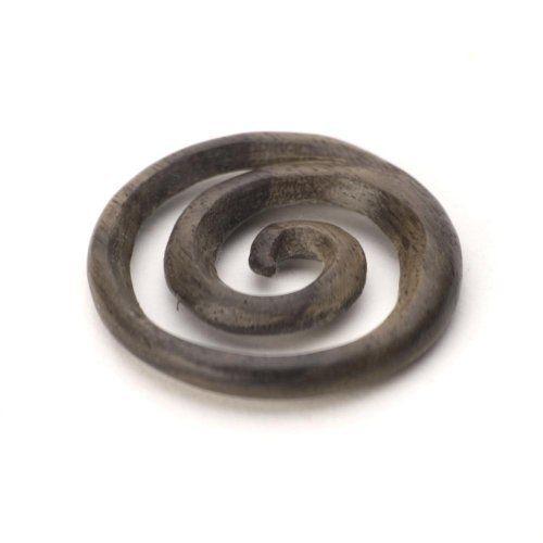 Brown wood spiral koru maori surf pendant necklace by 81stgeneration 81stgeneration. $15.98. .