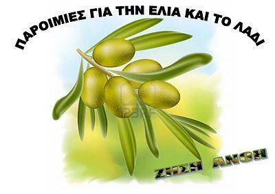 Παροιμίες για την ελιά και το λάδι