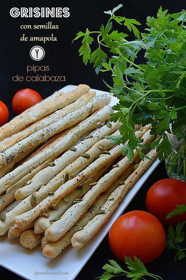 Con sabor a canela: Grisines de semillas de amapola y pipas de calabaza