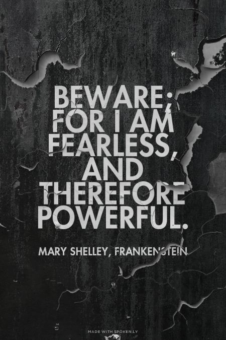 Quotes from Frankenstein by Mary Shelley