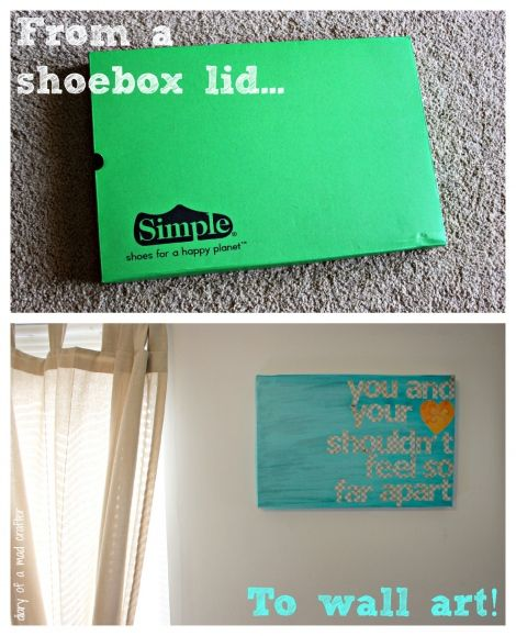 From shoebox lid to wall art!