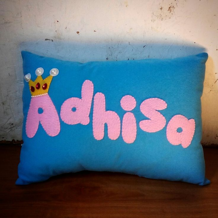 For princess Adhisa, name pillow