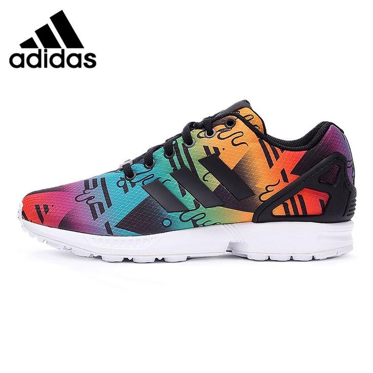 Asli Baru Kedatangan Adidas Originals ZX FLUX pria Dicetak Skateboard Sepatu Sneakers