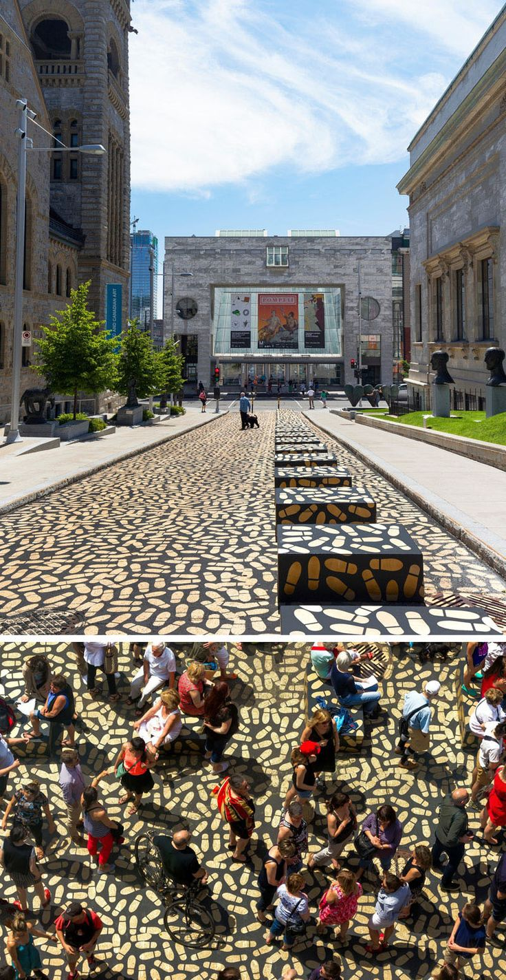 Canadian architect Jean Verville's latest installation, DANCE FLOOR, encourages people to dance their way into Montreal's Museum of Fine Arts.