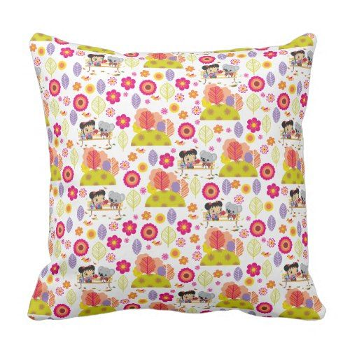 Ni Hao Kai-Lan | Kai-Lan & Tolee Pattern Throw Pillow