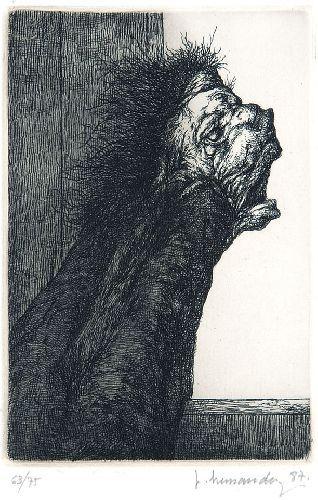 El sirviente (1987) Plancha 6,7 x 10 Cm. Papel 28 x 38 Cm.