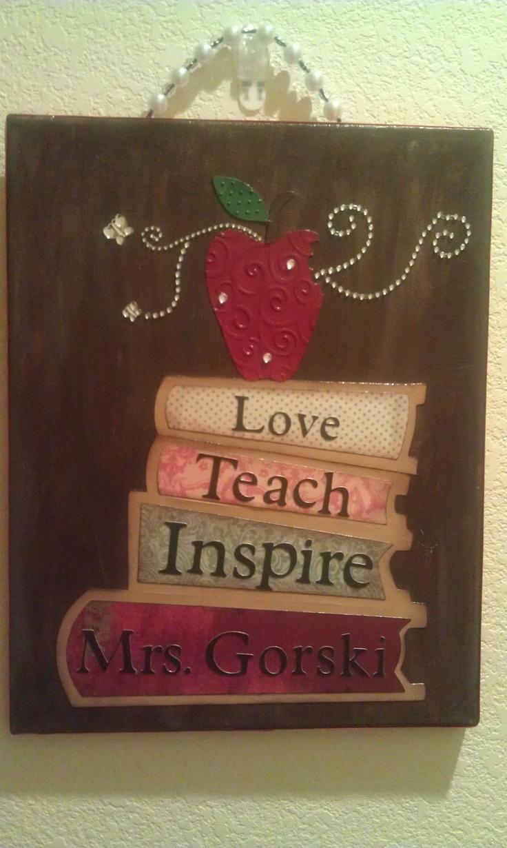 Best 25 teacher canvas ideas on pinterest teacher signs for Teaching kids to paint on canvas