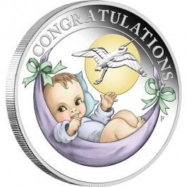 2018 Newborn Baby 1/2oz Silver Proof Coin Direct Coins is pleased to offer the beautiful new 2018 Newborn Baby 1/2oz Silver Proof Coin. The coin is a perfect way to celebrate the arrival of a newborn baby, making a gorgeous gift or keepsake.