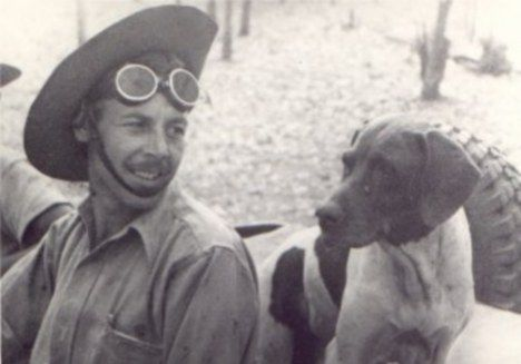 Devotee: Judy the dog met Frank Williams in a prisoner of war camp in Medan in 1942. He shared his daily handful of maggoty boiled rice with Judy and in return she alerted him to scorpions, snakes and if guards were near. She was the only dog officially recognized as a Prisoner of War during WW2 and won the Dickin Medal, the animal equivalent of the Victoria Cross.