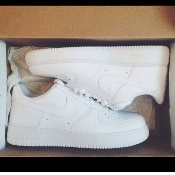 Shoes White Nike airforces in good condition with only one and two small creases (size-8.5 womens)and (size-7 in men's ) Nike Shoes Sneakers