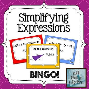 Simplifying Expressions (Distribute & Combine Like Terms)