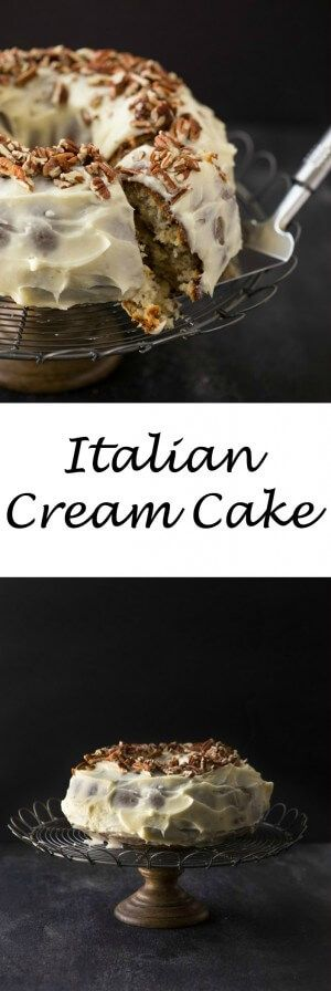 Italian Cream Cake with Cream Cheese Frosting:
