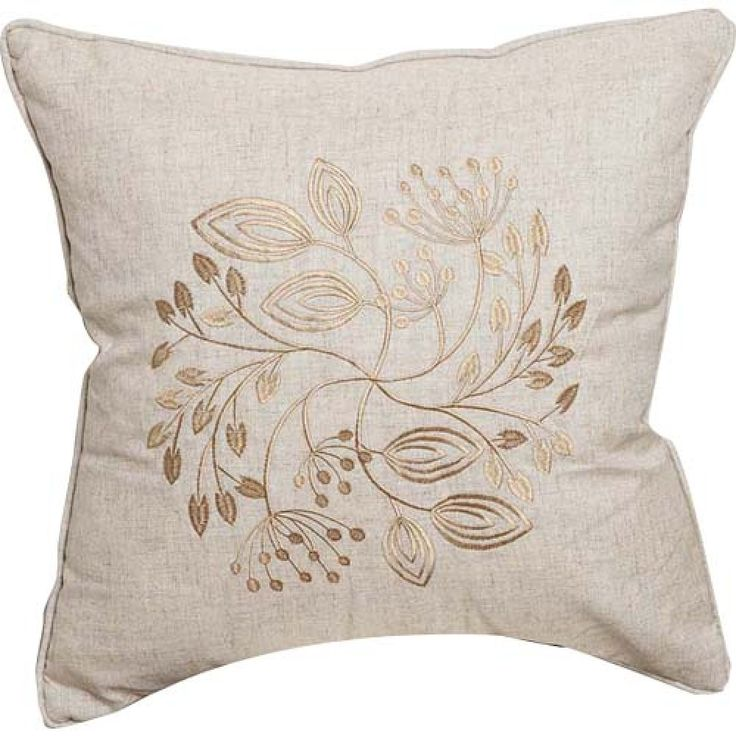 Embroidery Linen Decorative Pillow Cover - Three Colors Available  #cushions #pillows #decor #pattern #country #homedecor #livingroom