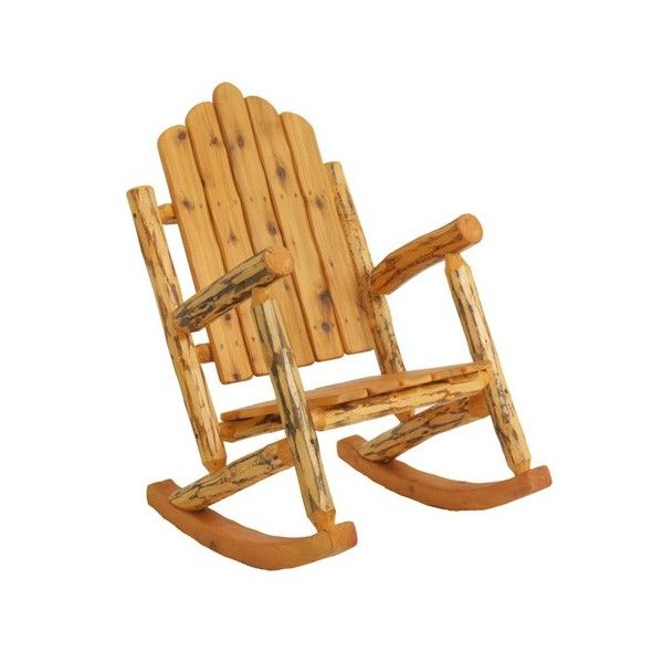A custom log rocker with hand shaped single piece runners for a soft feel and smooth movement.