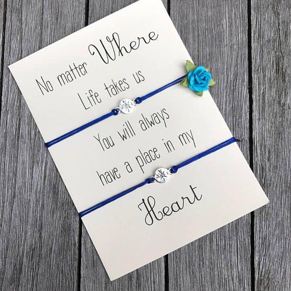 No matter where, Long distance relationship gifts, Going away gifts, Matching bracelets, BFF gift ideas, Best friend gifts, Compass bracelet, Compass….