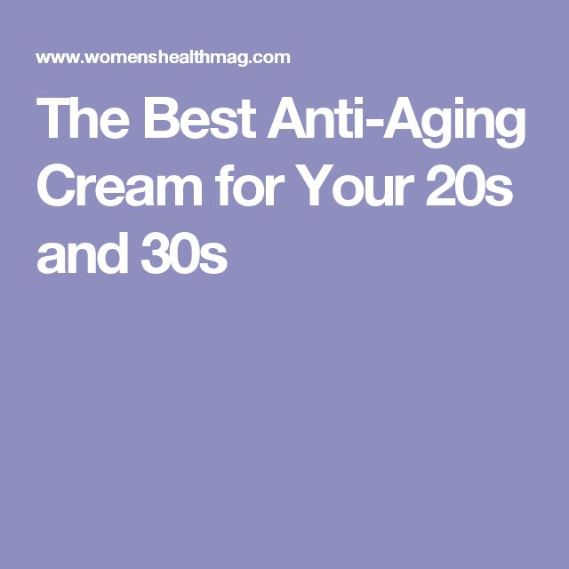 The Best Anti-Aging Cream for Your 20s and 30s